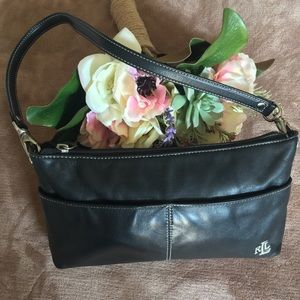 Ralph Lauren Black Leather Small Clutch Wristlet
